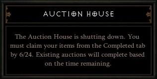 Diablo III - Auction House Closure