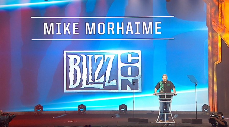 Mike Morhaime on Stage at BlizzCon 2013
