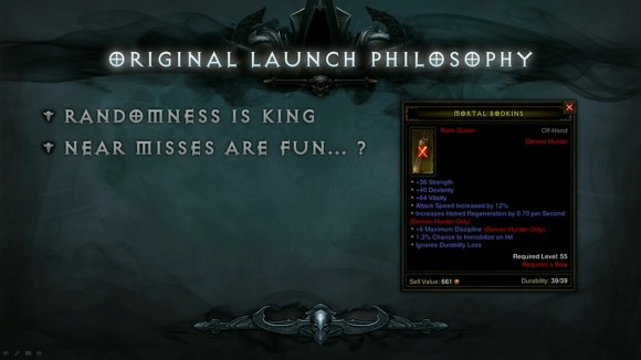 BlizzCon 2014 Diablo III - Evolution of Reaper of Souls - Original Launch Philosophy