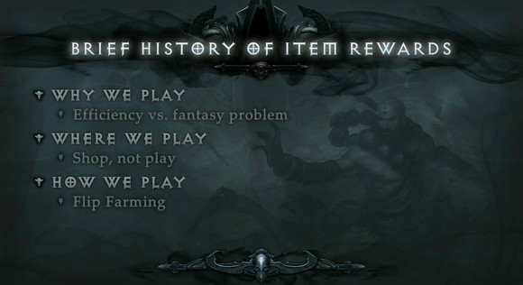 BlizzCon 2014 Diablo III - Evolution of Reaper of Souls - Brief History of Item Rewards