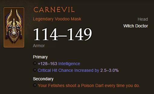 Diablo III Carnevil voodoo mask
