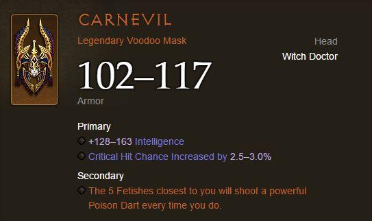 Diablo III - Carnevil Voodoo Mask