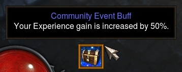 Community Buff for 50% Experience