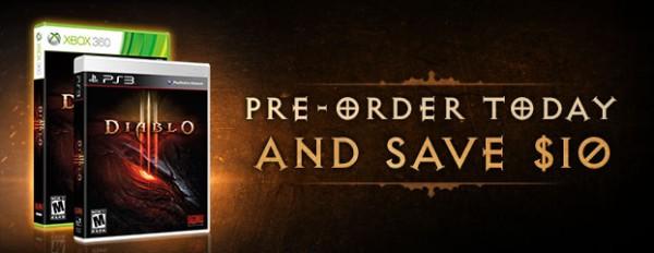 Console Diablo III Preorder Sale