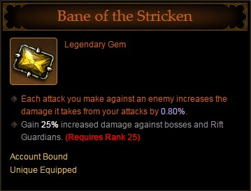 Diablo III Legendary Gem - Bane of the Stricken