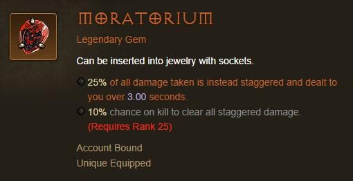 Diablo III Legendary Gem: Moratorium