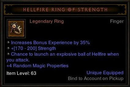 Hellfire Ring of Strength