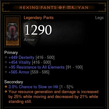 Hexing Pants of Mr. Yan - Level 70