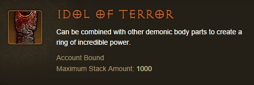 Diablo III - Idol of Terror