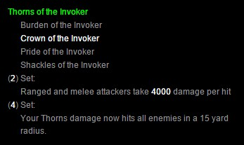 Thorns of the Invoker - Diablo III