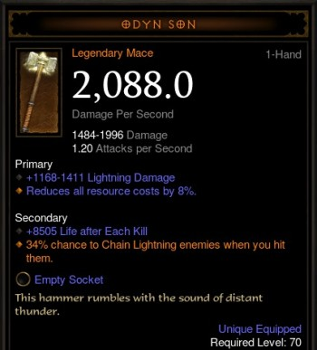 Odyn Son Mace - Bugged Roll