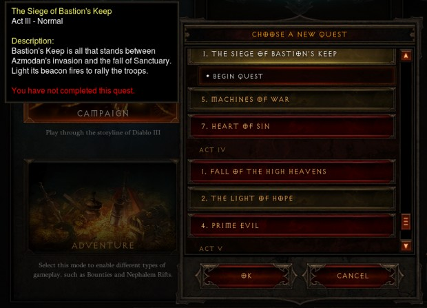 Quest Selection UI in Patch 2.0.4
