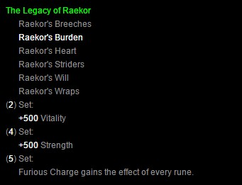 Diablo III Raekor's Set Patch 2.1.0 Bonuses