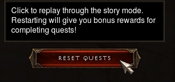 Reset Quests Option in Diablo III