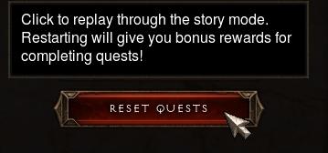 Reset Quests Option in Diablo III