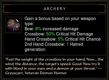 Reaper of Souls Beta: Archery Passive