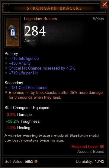 Reaper of Souls Beta: Strongarm Bracers