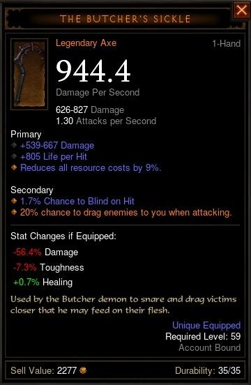 Reaper of Souls Beta: The Butcher's Sickle