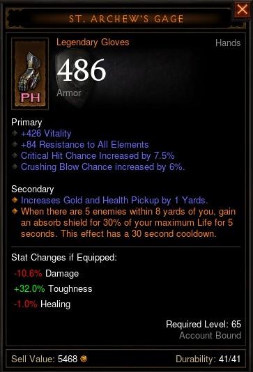 Reaper of Souls Beta: St. Archew's Gage