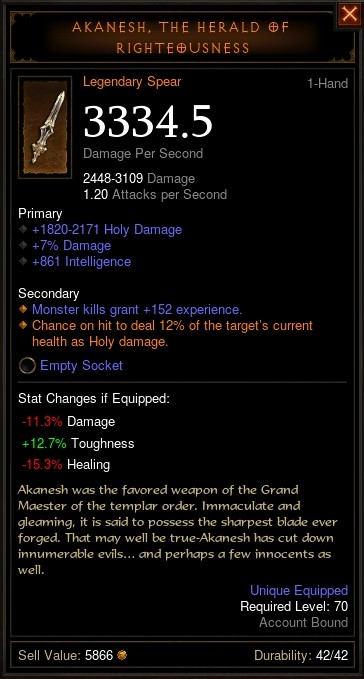 Reaper of Souls Beta: Akanesh, The Herald of Righteousness