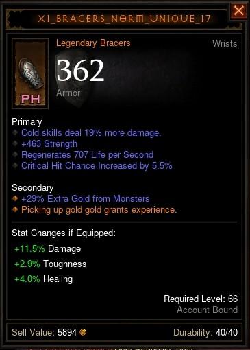 Reaper of Souls Beta: Placeholder Bracers