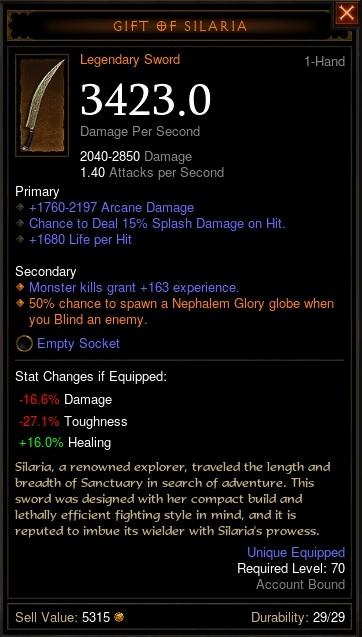 Reaper of Souls Beta: Gift of Silaria