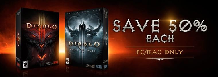Diablo III PC Sale - 50% Off