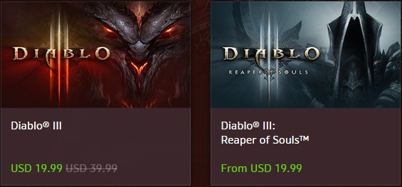 Diablo III on Sale at US Blizzard Shop