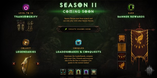Diablo III Season 2 - Starting on February 13
