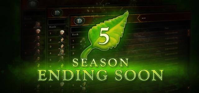 Diablo III Season 5 Ending Soon