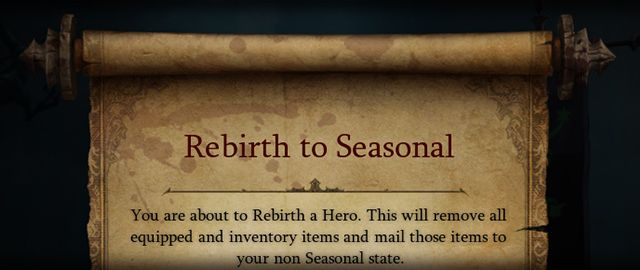 Diablo III - Seasonal Rebirth