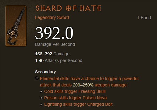 Shard of Hate Display