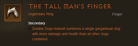 The Tall Man's Finger - Diablo III Legendary