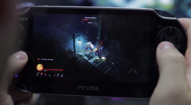 Diablo III on PlayStation Vita with Remote Play from a PS4